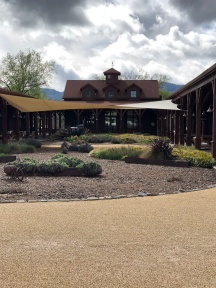 The winery, stables, and tasting room